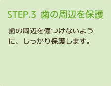 STEP3 歯の周辺を保護